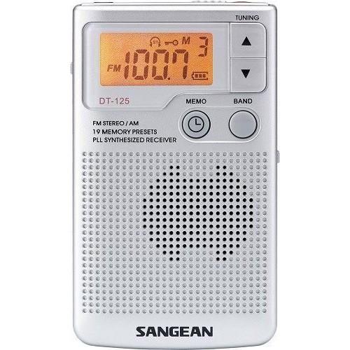 SANGEAN山進二波段調頻立體 / 調幅 數位式口袋型收音機 DT-125