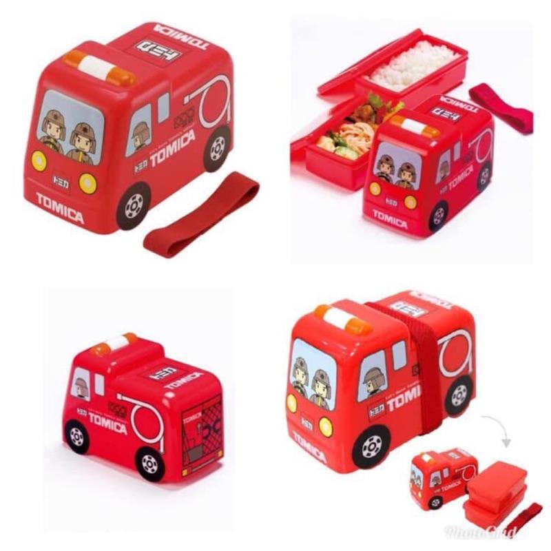 現貨‼️日本🇯🇵Tomica消防車造型雙層食物盒 廠商出清特價