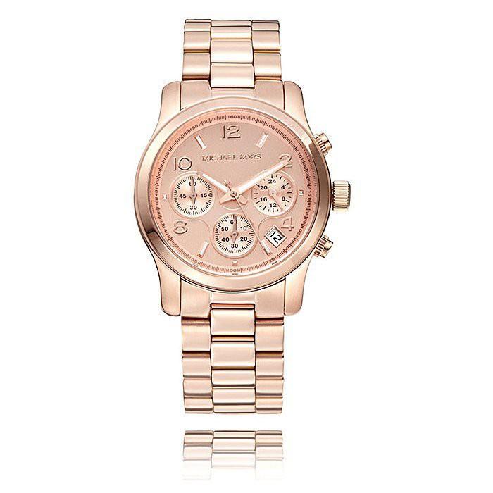Michael Kors 玫瑰金 簡約時尚躍動三眼腕錶 MK5128 MK 手錶 免運有保固