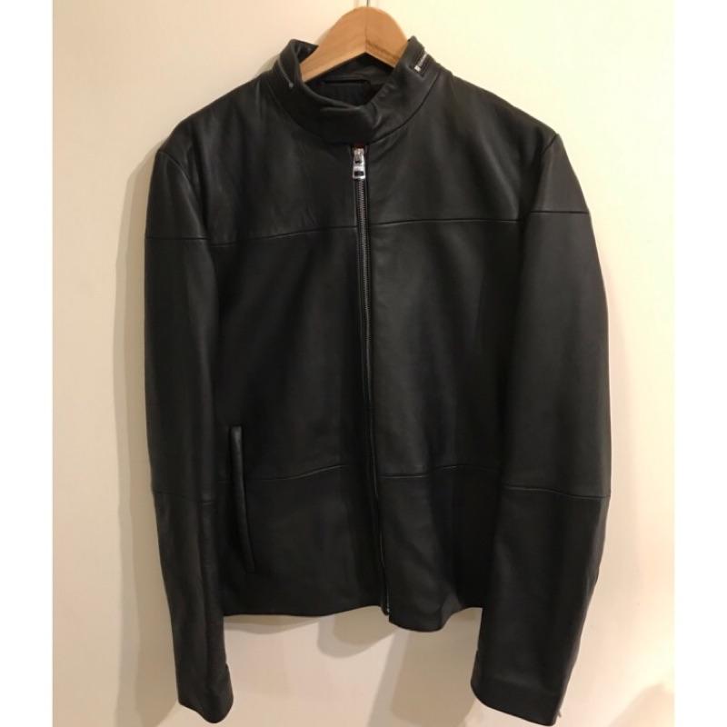 hugo boss lefox leather jacket