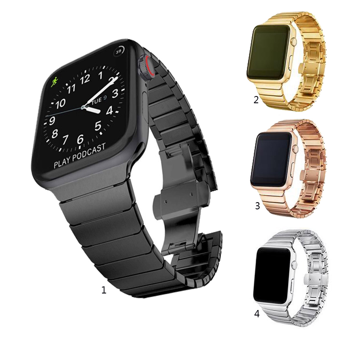 Apple Watch Series 1 2 3 4 5 38mm 40mm 42mm 44mm 不銹鋼 Iwatch