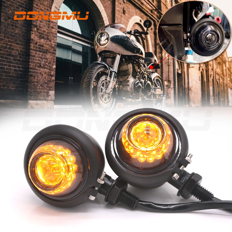『東木』復古方向燈 高質感 檔車 LED 方向燈 SR400 w800 野狼 雲豹 愛將 KTR 凱旋 貝茲方向燈 咖啡