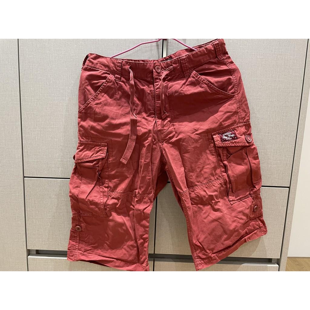 Big Train 短褲 / 男生短褲 / 休閒褲 / 紅色 / 口袋