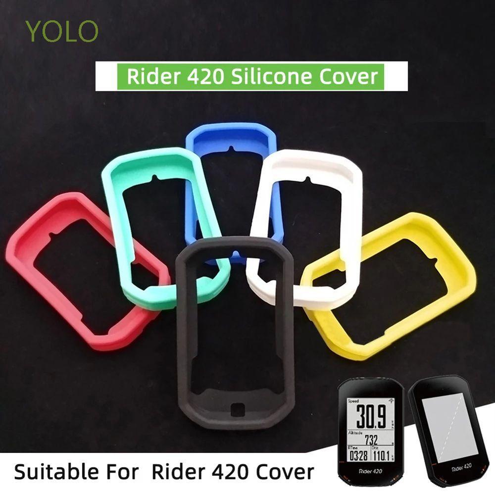 Yolo 自行車配件 Bryton Rider 420 外殼防水自行車電腦蓋騎手 320 盒防摔騎行零件高清膠片 MTB
