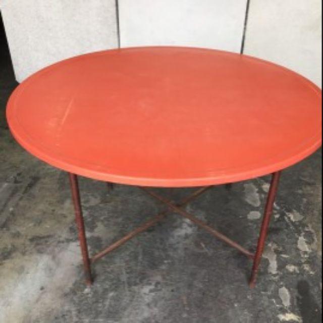 二手 辦桌四尺/六尺圓桌 4尺/6尺 餐桌椅 纖維圓桌 加購鋁架 辦桌轉盤 圓桌 鐵片腳 夜市桌 供品桌