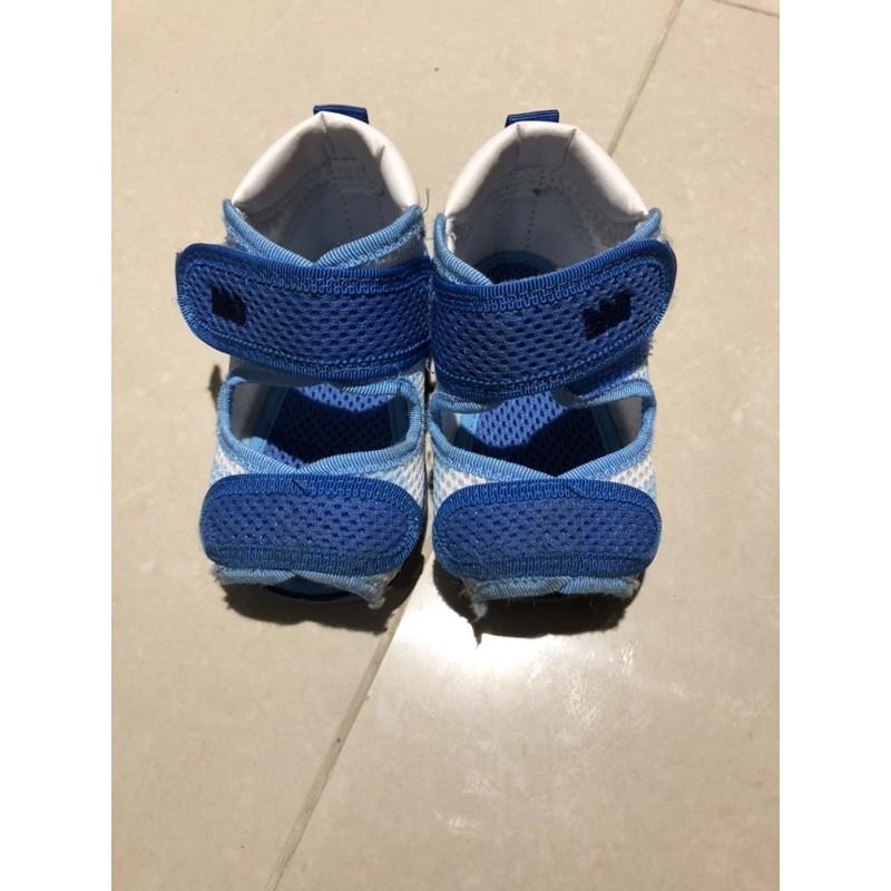 (二手)日本月星 moonstar 水涼鞋 男童12.5cm (藍色)
