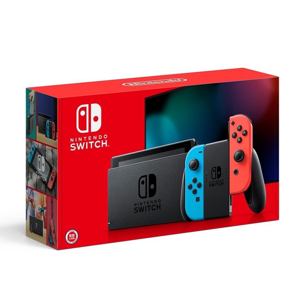 全新現貨Nintendo Switch 任天堂 電池持續時間加長版 遊戲主機 紅藍