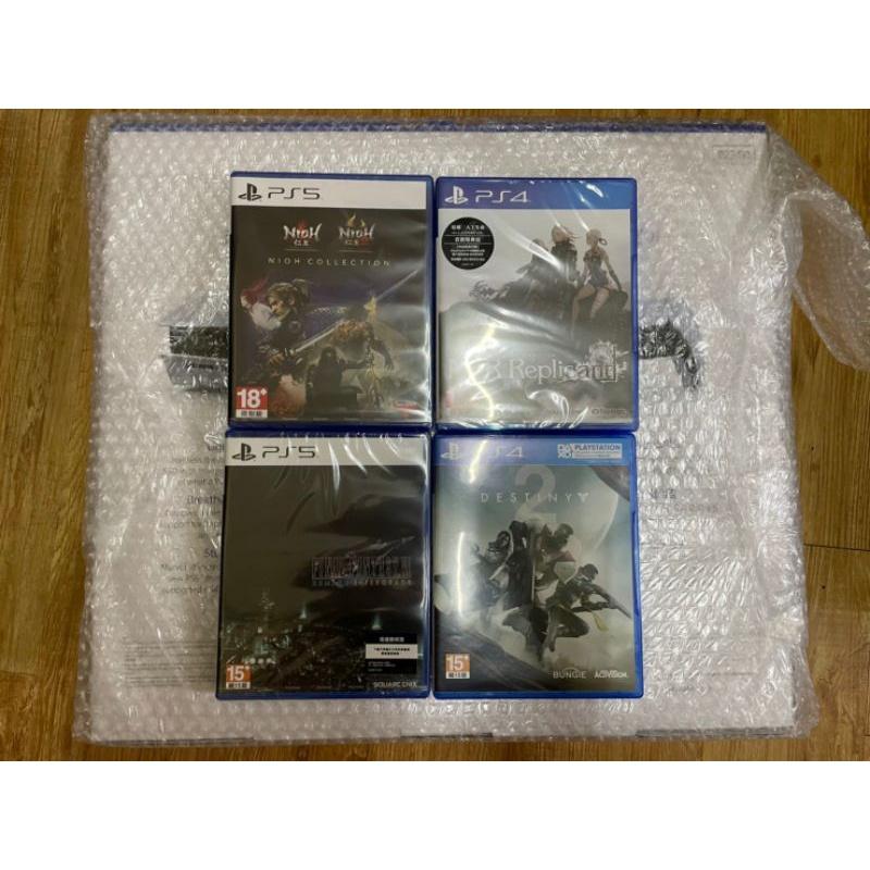 (只有一組)全新未拆PS5光碟版+遊戲大作禮包