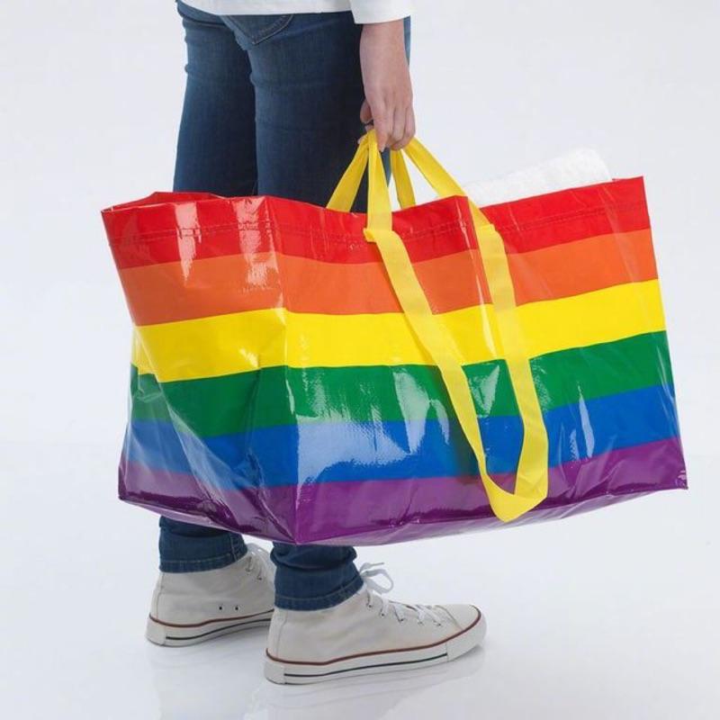 ˙TOMATO生活雜鋪˙澳洲進口雜貨限量款彩虹購物袋澳洲 IKEA多用途手提 肩背環保摺疊購物袋 (預購)