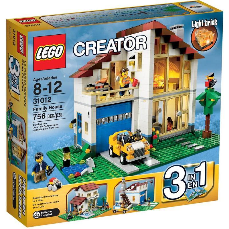 LEGO 樂高 Creator創意系列 31012 Family House 大宅