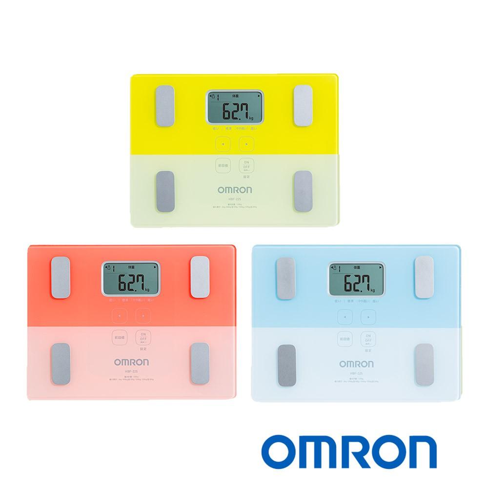 OMRON 歐姆龍 HBF-225 體重體脂計 黃色/粉色/藍色 (原廠保固一年) 公司貨非水貨