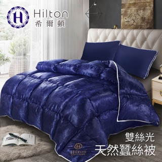 【Hilton希爾頓】 拜占庭雙絲光天然蠶絲被2.5KG/ 藍💠現貨 苗栗縣