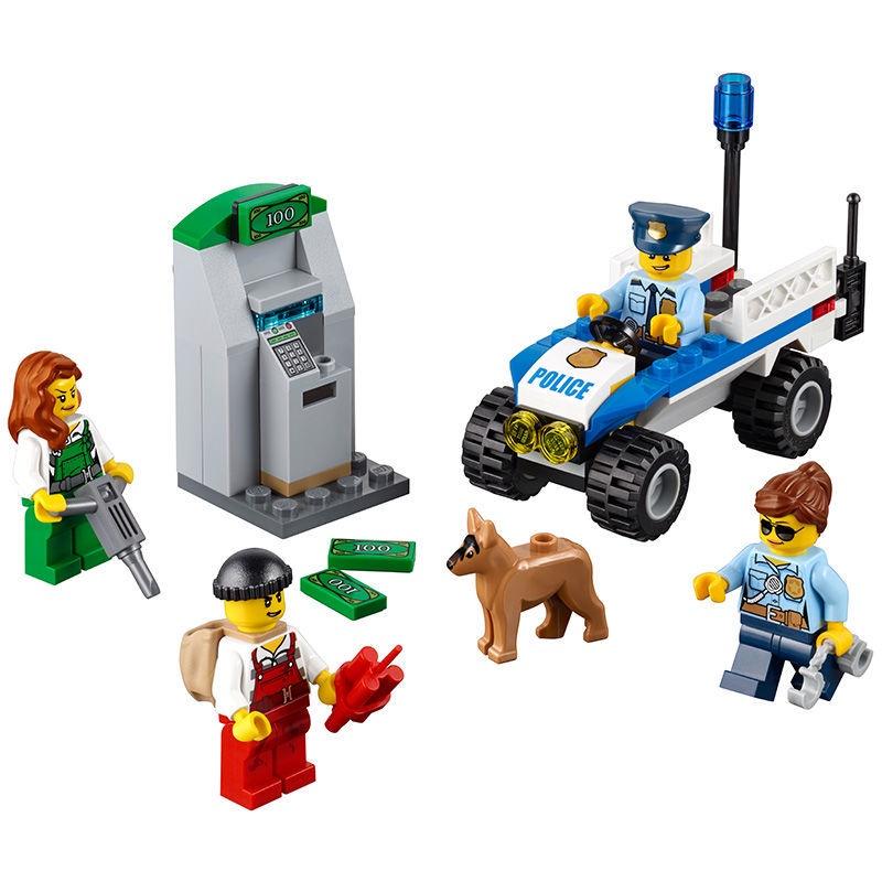 🔥現貨免郵🔥新城市系列警察局抓小偷入門套裝兼容樂高60136拼裝拼插積木玩具