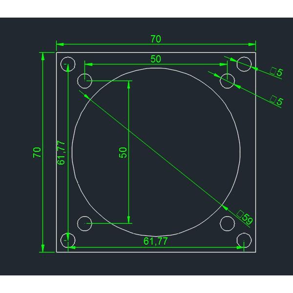 透明壓克力板 2mm厚 依圖檔雷射切割 70mm*70mm 1片30元  超取付款60元