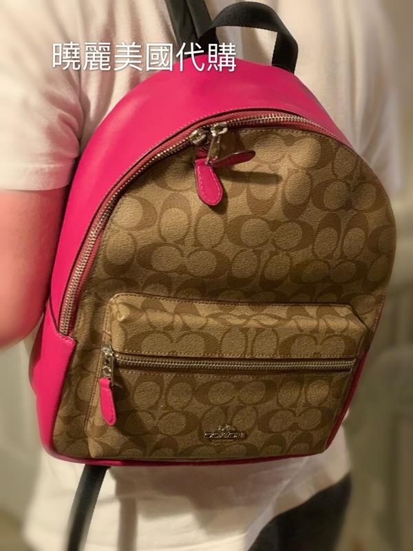 全新正品COACH 女款 黑色 咖啡 雙肩 大款 中款 大後背包 雙肩後背包 旅行包 休閒包 中款 後背包 雙肩後背包