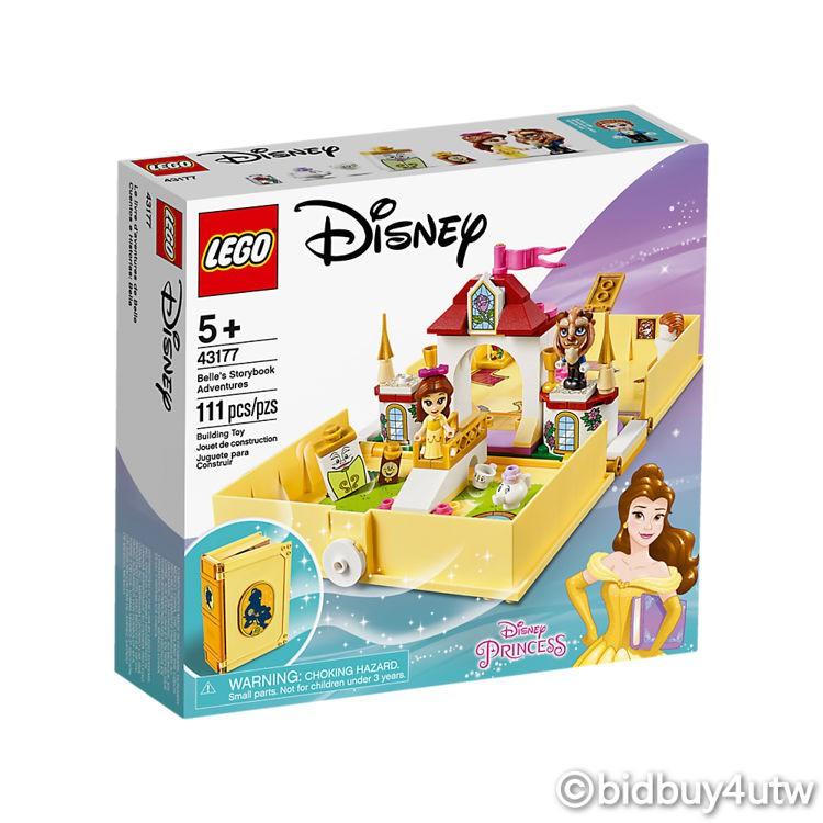 LEGO 43177 貝兒的口袋故事書 迪士尼公主系列 【必買站】樂高盒組