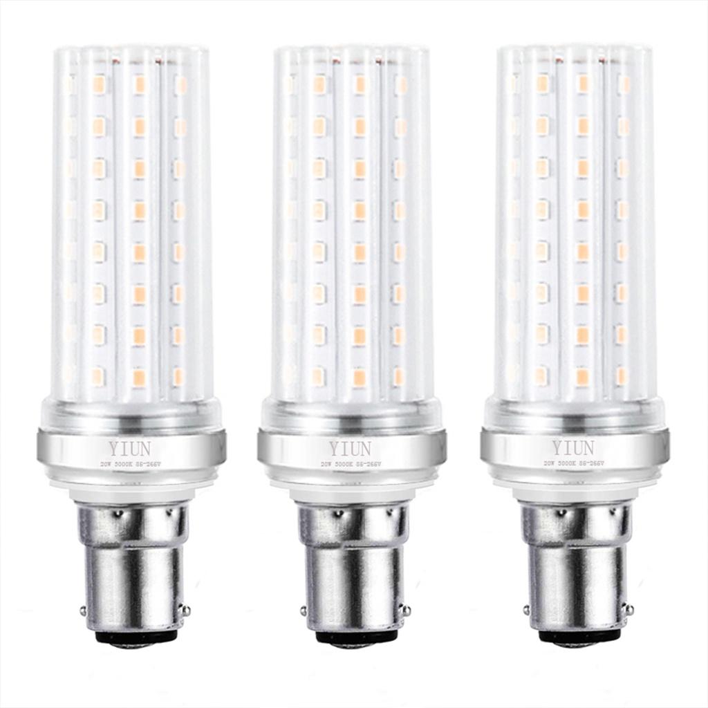 B15 LED 蠟燭燈泡 ,20W LED 燭台燈泡 150 瓦等效 ,1800lm, 暖白 3000K LED 枝形吊