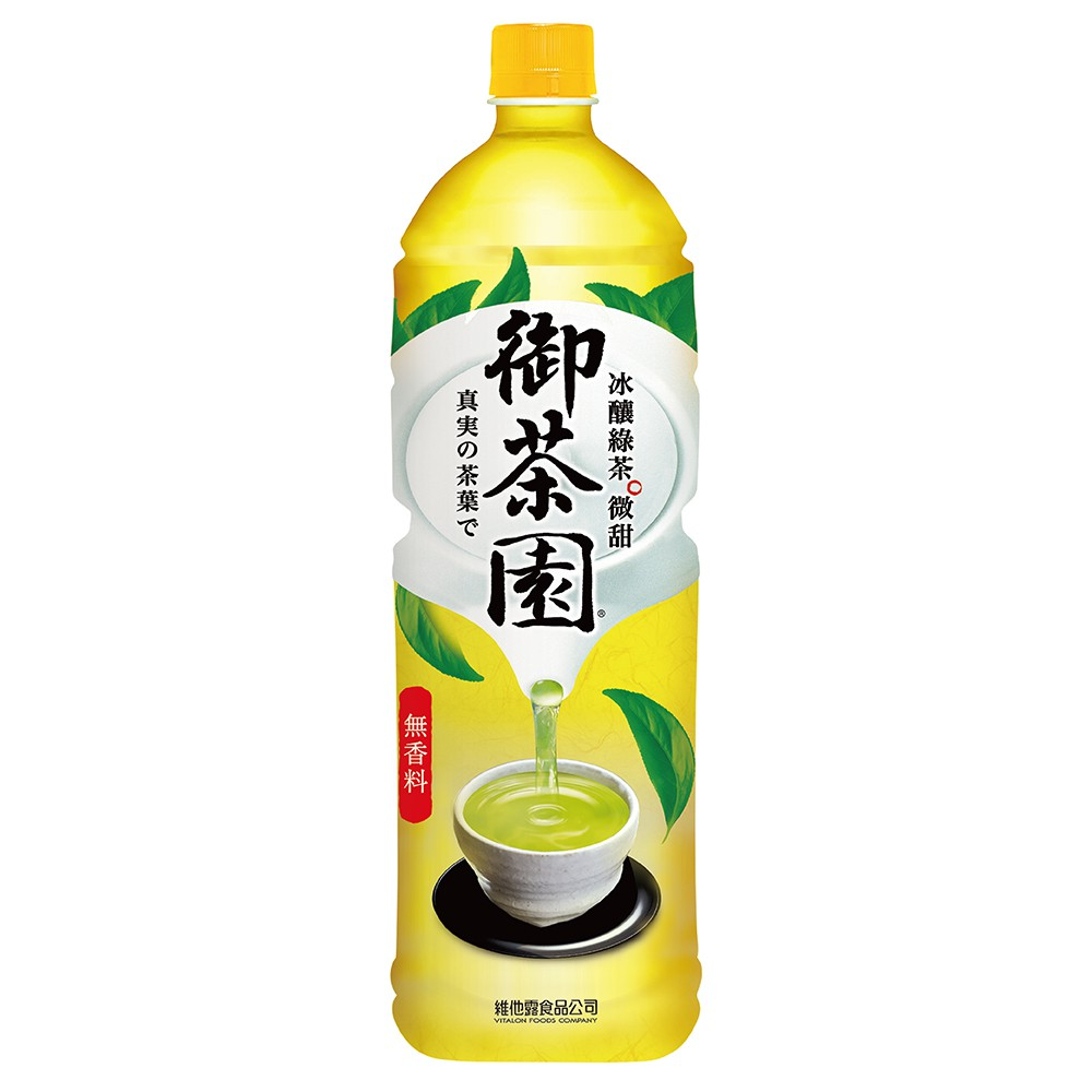維他露 御茶園冰釀綠茶(微甜)1250mlx12入/箱