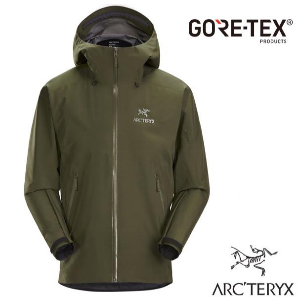 【加拿大 ARCTERYX 始祖鳥】男款 Beta LT Gore-Tex 防風防水透氣連帽外套(僅395g)龍紋綠
