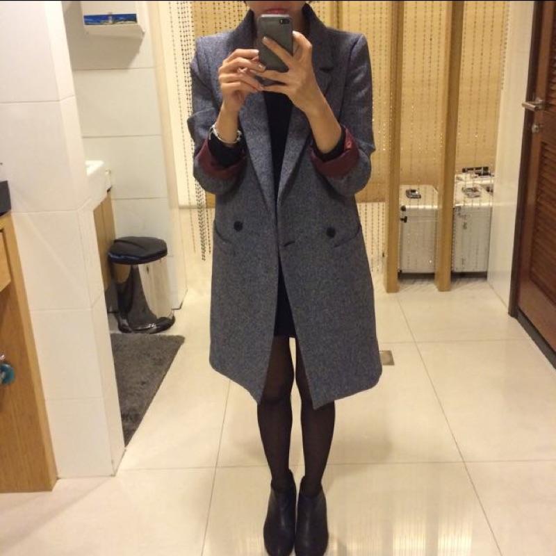 正韓質感長版西裝外套