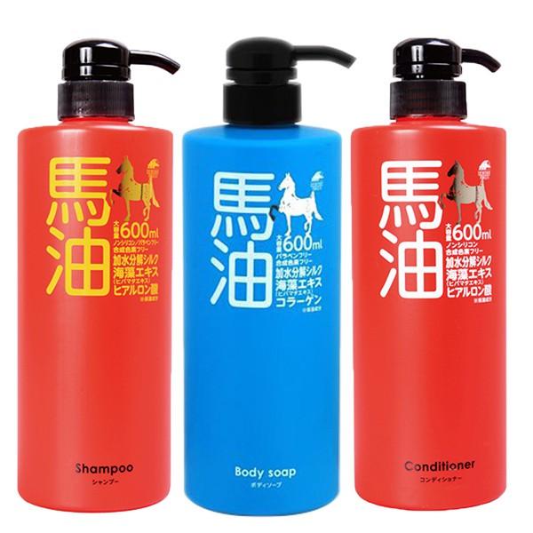 日本 UNIMAT RIKEN 佑瑪道理研 馬油洗髮精/潤絲精/沐浴乳600ml 阿志小舖