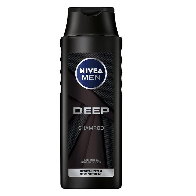 NIVEA妮維雅男士深極炭清新控油洗髮精(400ml)【康是美】