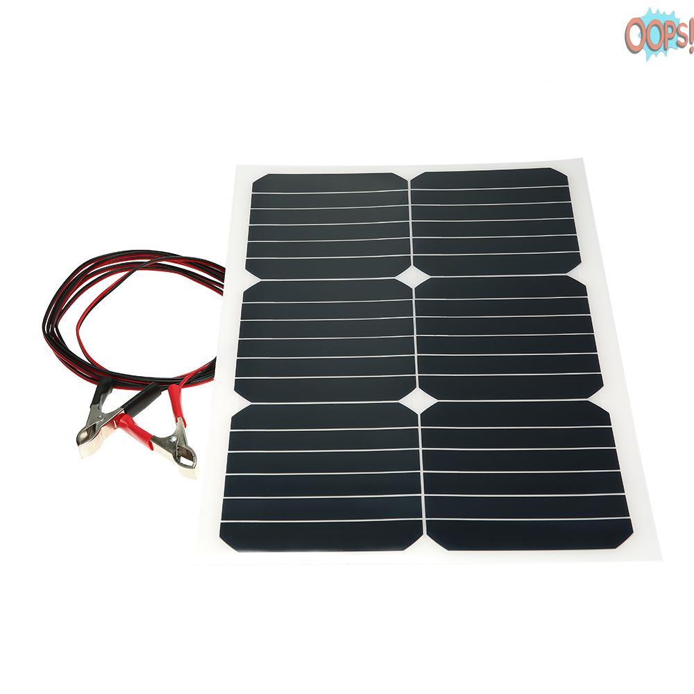 OOP 20W 12V 單聲道半柔性太陽能電池板,帶 Sunpower 芯片,用於電池充電器船 Cara