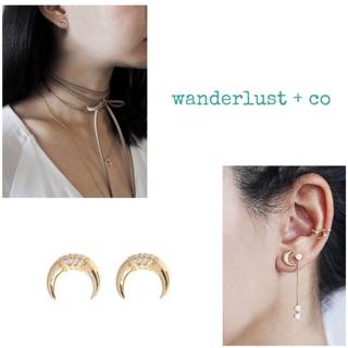 歐美波希米亞月亮925銀耳針 耳環Wanderlust & co 臺北市