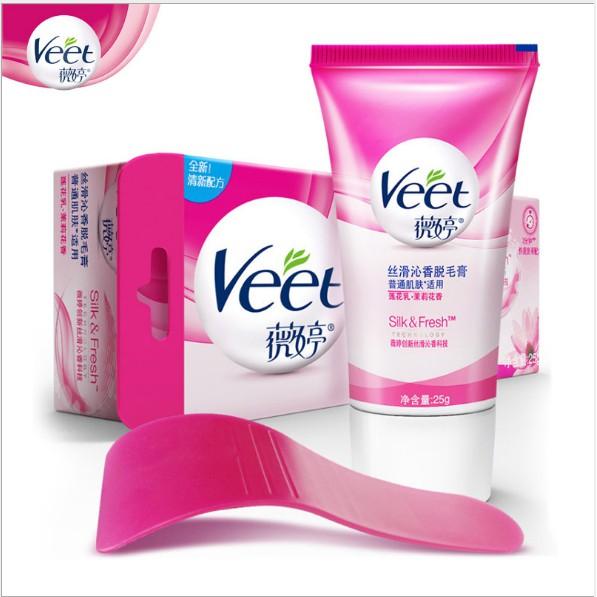 Veet 薇婷 除毛膏 脫毛膏 沐浴款 敏感肌膚款 25g 送刮匙