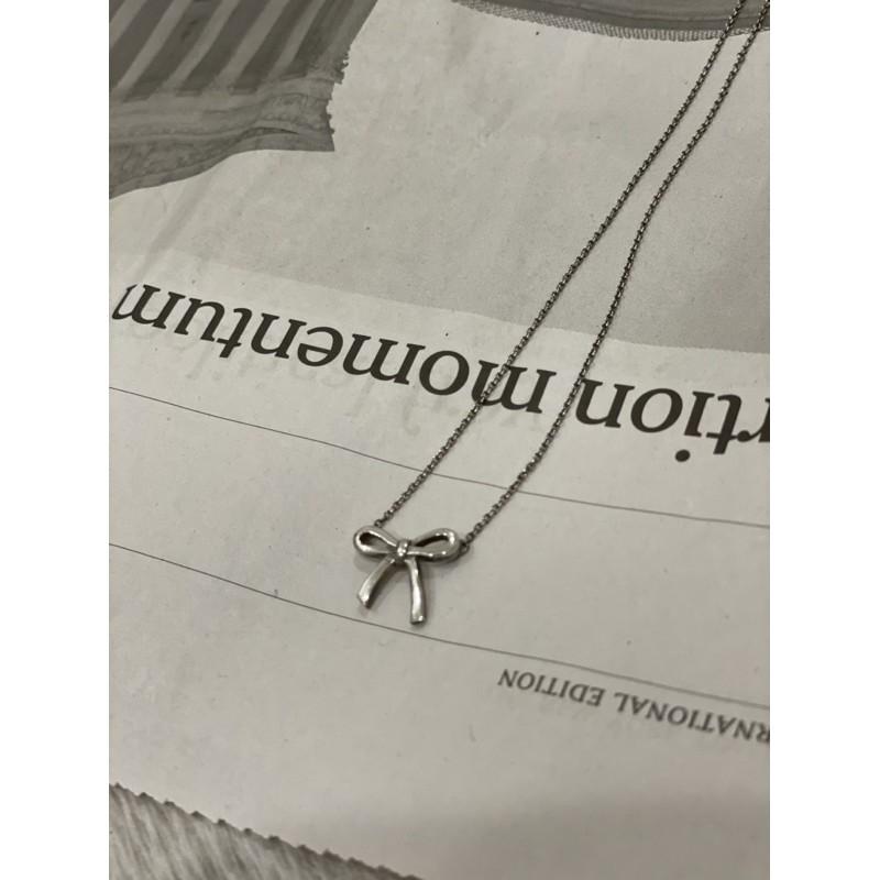 Tiffany & Co 經典925純銀蝴蝶結項鍊