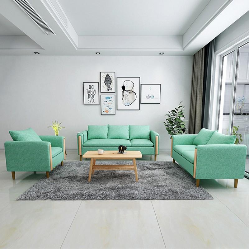 簡約現代布藝沙發客廳創意三人位家具沙發小戶型網紅款租房小沙發 友家百貨鋪