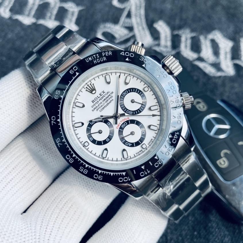 勞力士 ROLEX 迪通拿系列 40mm 男士時尚商務腕錶 經典三眼六針設計 全自機械機芯 礦物質仿磨防刮水晶鏡面