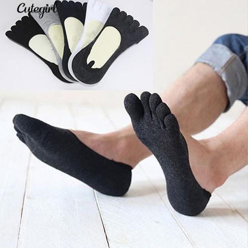 1Pair男士棉質防滑隱形Peds襪子低幫不露腳趾襪子隱形襪