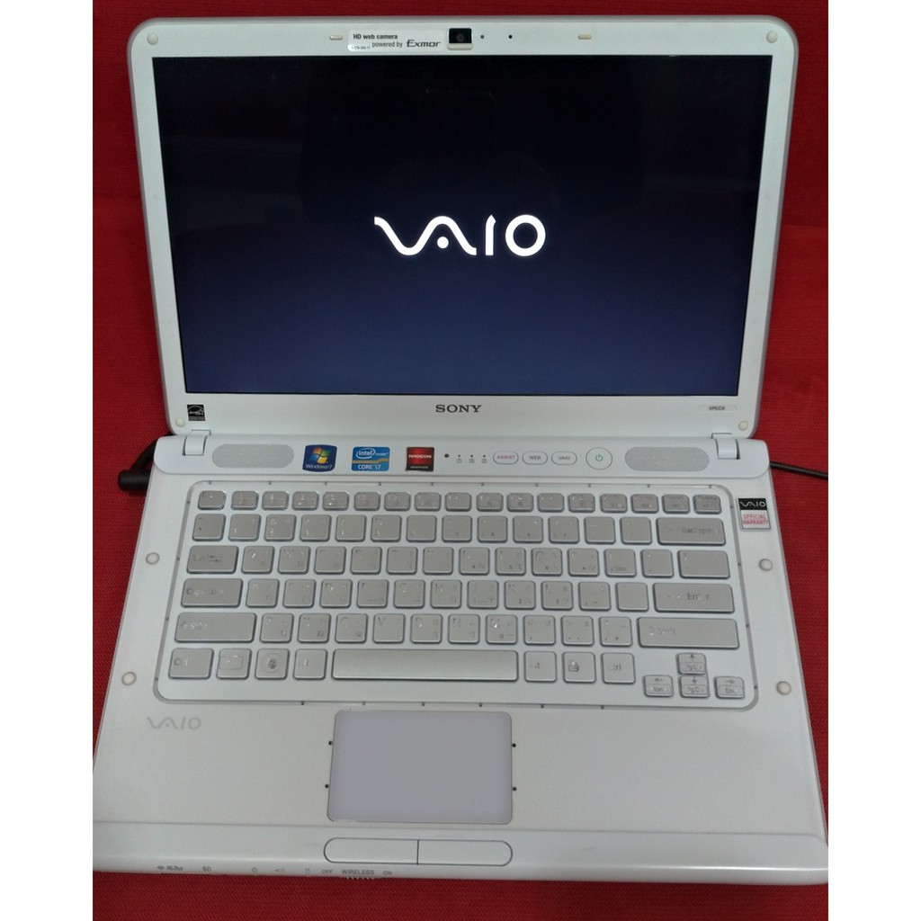 SONY 索尼14吋 i7-2620M 白色筆電 VPCCA16FW