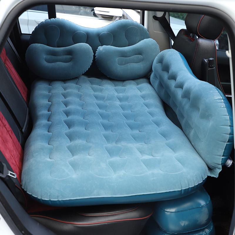 下殺價 免運 波浪紋雙檔車床 植絨有擋旅行床墊汽車護頭擋氣墊床 車載充氣床