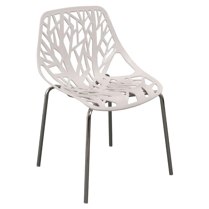 【C1962-08】PP塑鋼造型椅(8077)(白)