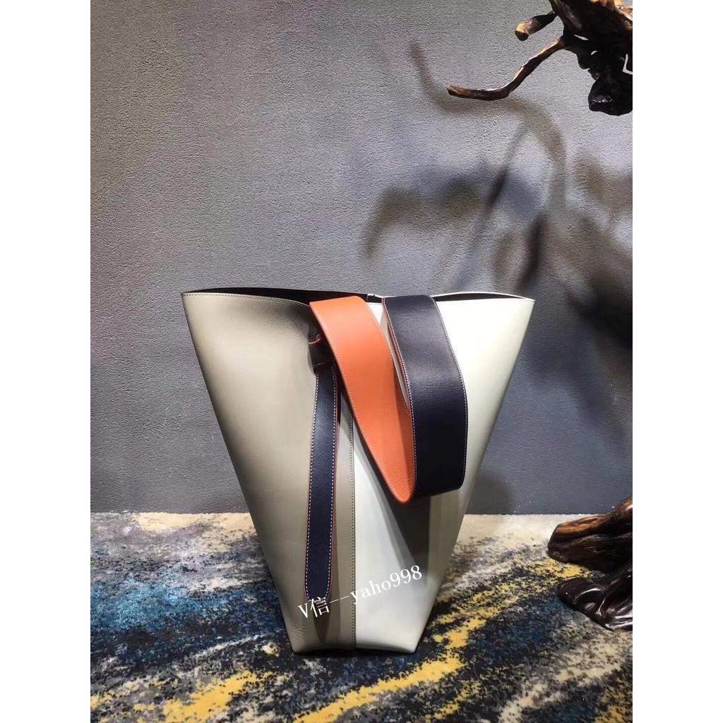 新款現貨CELINE賽琳 twisted cabas 經典款拼色手提水桶包單肩包