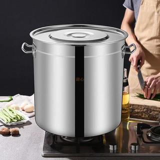 [熱銷]304不銹鋼湯桶 加厚帶蓋復合底特厚大容量 湯鍋儲水桶圓油桶然氣 臺中市