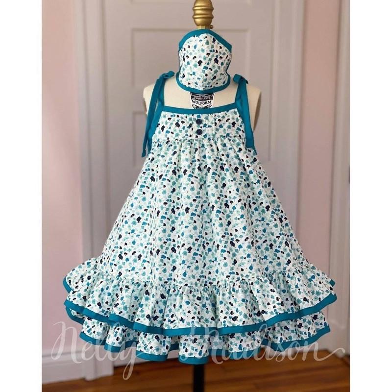 Nelly Madison 藍碎花雙層洋裝