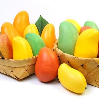 滿299出貨加重高仿真黃芒果假水果家居早教道具酒店櫥窗家具攝影展示模型