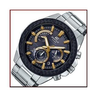 CASIO 卡西歐 EDIFICE 三眼錶賽車錶 (太陽能電力)( 黑X金) EQS-910D-1B