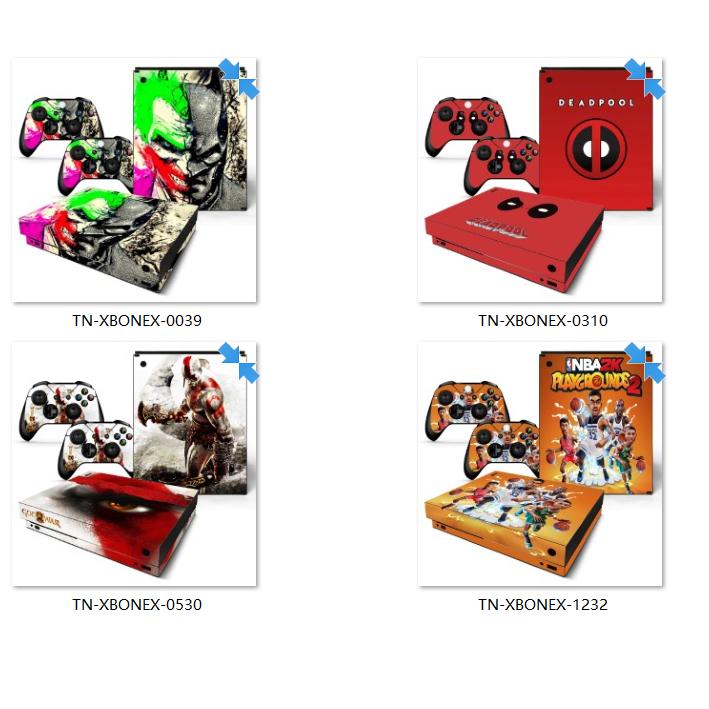 微軟XBOX ONE X主機貼膜 XBOX ONE X痛貼 XBOX ONE X遊戲款貼膜