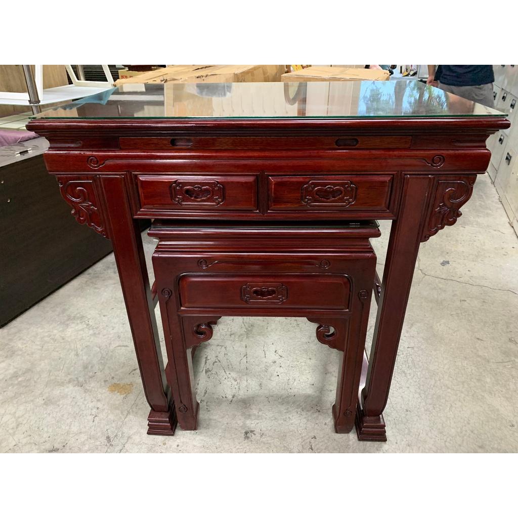 大慶二手家具 實木上下座神明桌/佛桌/神明桌/供桌