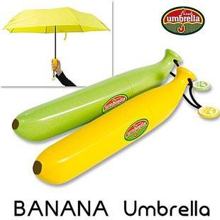 【年年】創意UM-BANANA 個性香蕉傘晴雨傘三折傘便攜傘鉛筆傘折疊傘遮陽傘