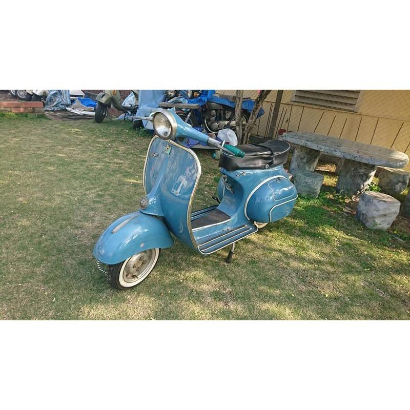 偉士牌 鴨母【正 牌】 $38萬元 1965年偉士牌T.V.藍色150cc. #正牌機車 #原始海關文件都在,太稀有啦!
