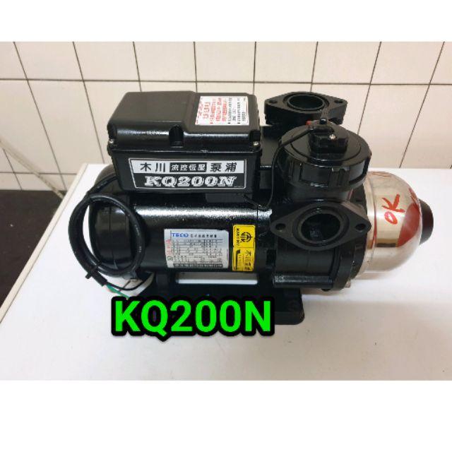 KQ200N,(九成新)木川家用穩壓加壓馬達 , 1/4馬力 110/220伏特電壓。( 貨到付款)