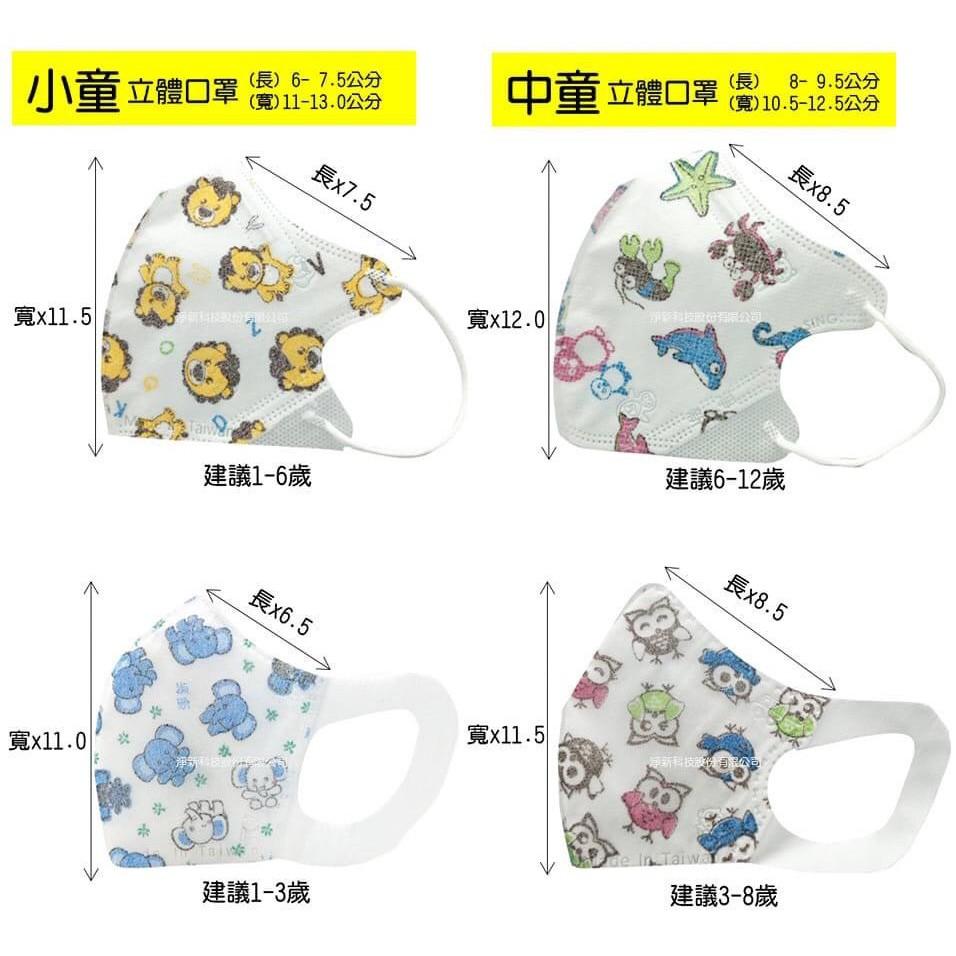 『合法藥商』台灣巧護士 淨新醫療口罩 台灣製造 立體 兒童 幼幼 50入/盒 (現貨 快速出貨)