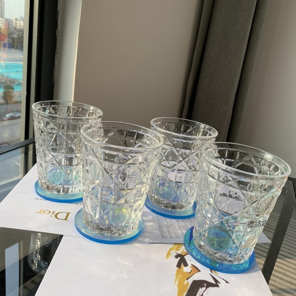 DIOR迪奧水晶杯套盒  藤格紋杯子 送禮佳品 交換禮 家用