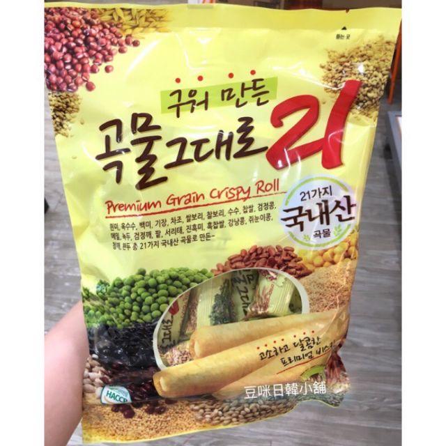 韓國 21穀物棒 五穀米果棒 穀物卷餅 特惠中 原味/紫薯/起司/大棗 -豆咪日韓本舖
