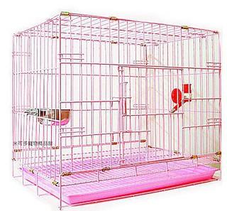 單門 2尺粉紅色靜電式狗籠靜電烤漆摺疊籠狗籠+飲水器+白鐵碗☆米可多寵物精品福袋組☆ 新北市